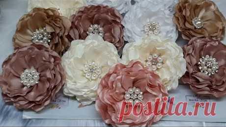 Como hacer flores onduladas de liston satín taiwanés #MAYRALEON |como hacer rosas|