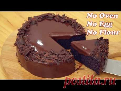 No Oven Chocolate Cake [Only 3 Ingredients] - YouTube
