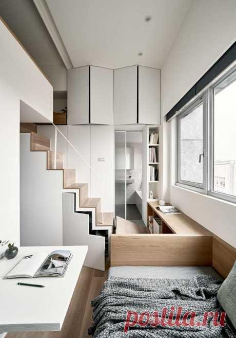 Показываю, как живет китаянка в студии 17,6 м2. Интерьер получился функциональным и практичным | 1000 идей для маленьких квартир | Яндекс Дзен