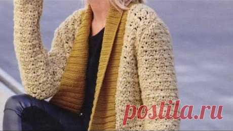 कार्डिगन के लिए क्रोकेट पैटर्न - Crochet pattern for cardigan - 羊毛衫的鉤針編織圖案