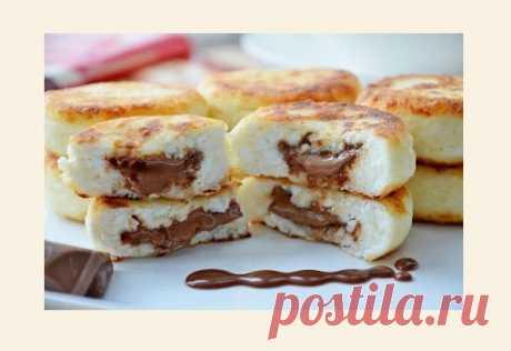 Творожные сырники с молочным шоколадом