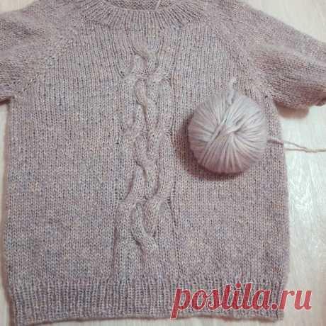 Реглан сверху: вяжу свитер онлайн (часть 3) | Студия Hand Made | Яндекс Дзен