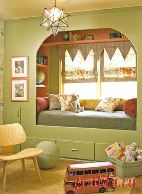 Окно, оформленное кроватью, или кровать, оформленная окном? — Сделай сам, идеи для творчества - DIY Ideas
