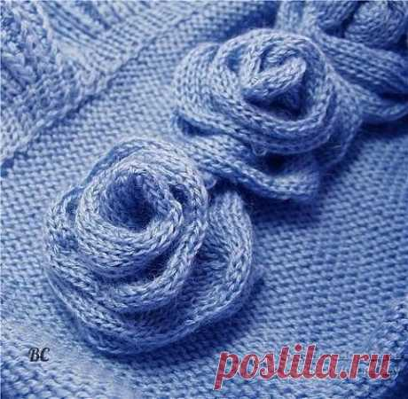 Вязаные розы (Вязание спицами) – Журнал Вдохновение Рукодельницы