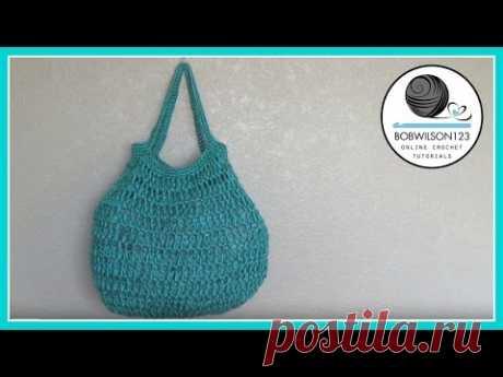 Crochet big bottom bag tutorial