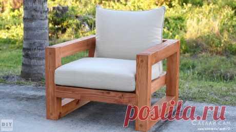 Кресло в стиле модерн из дерева своими руками