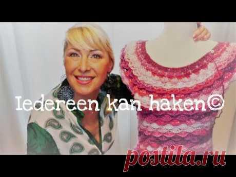 Iedereen kan haken© Howto#Crochet#sweater#Lente#truitje#Rainbow#stitch#Kelly#Zeeman#wol#Nederlands#