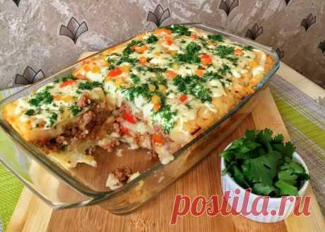 Картофельная запеканка с начинкой, которая порадует всю семью вкусным и сытным ужином — ХОЗЯЮШКА