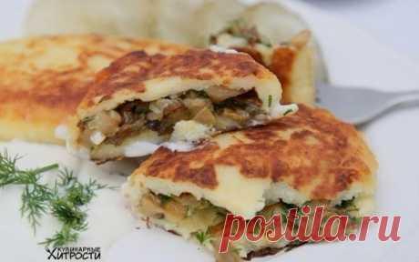 Картофельные пирожки с грибами - Кулинарные Рецепты