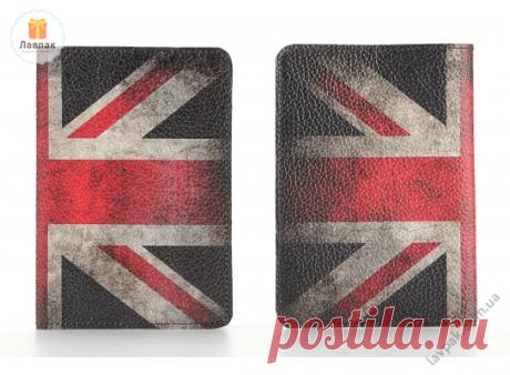 Великобритания - Кожаная обложка на паспорт с флагом Королевства Великобритании  → Купить за 199 грн. → Цена, Отзывы