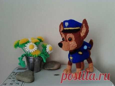 """Гонщик из """"Щенячий патруль"""", ч.3. Racer from the """"Puppy Patrol"""", р.3. Amigurumi. Crochet."""