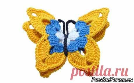Маленькая бабочка крючком