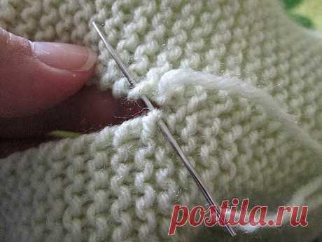 Сшиваем вязаные изделия красиво! Несколько схем