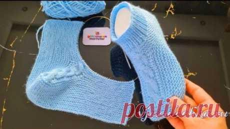 Los calcetines tejidos femeninos y las zapatillas, el esquema de la labor de punto – Вязалочка.ру