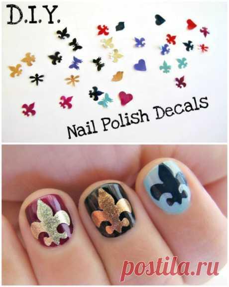 Las pegatinas a las uñas (DIY) \/ el Maquillaje\/manicura \/ la SEGUNDA CALLE