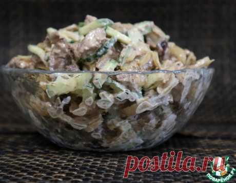 Салат из куриной печени и огурца – кулинарный рецепт