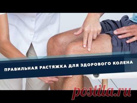 Правильная растяжка для здоровья колена | Доктор Демченко - YouTube