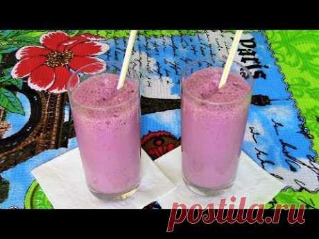 Молочный коктейль из замороженных ягод для жаркого лета. Очень вкусно!