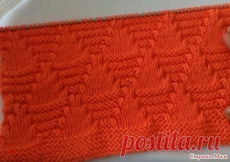 Красивый плотный узор для вязания