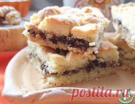 Печенье с орехами и черносливом – кулинарный рецепт