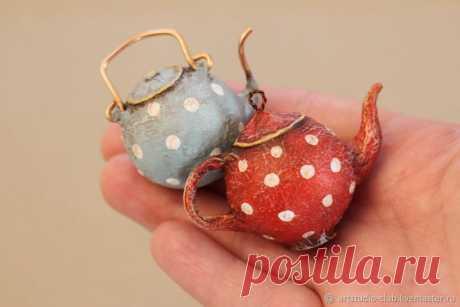 Мастер-класс смотреть онлайн: Делаем миниатюрные чайнички своими руками | Журнал Ярмарки Мастеров