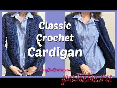 Classic Easy Crochet Cardigan