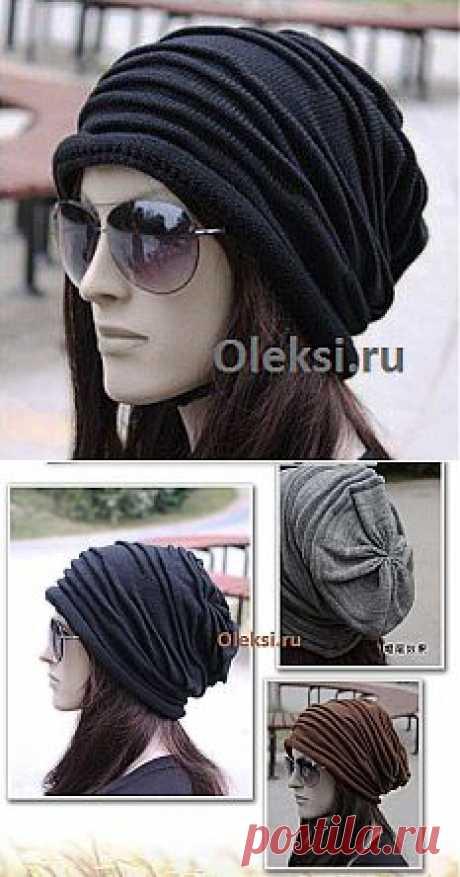Шапка со складками : Вязание на oleksi.ru