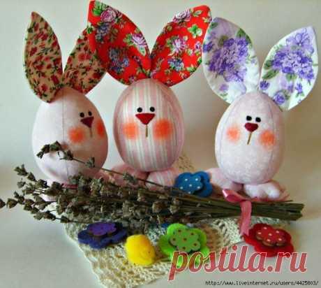 Пасхальные яйца-веселые зайцы