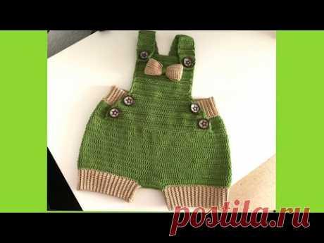 Overol para bebe tejido a crochet | varias tallas | tejidosBebe