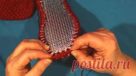 Женские тапочки крючком необычным методом распространенным методом у Китоянок