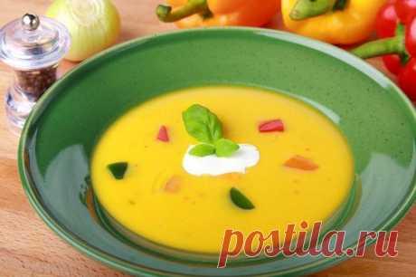 Суп-пюре из сладкого перца – пошаговый рецепт с фото.