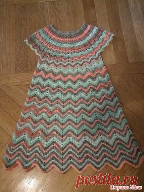 Платьишки для девочек и топик для девушки по одной схеме в стиле Миссони (фэмили лук) - Вязание - Страна Мам