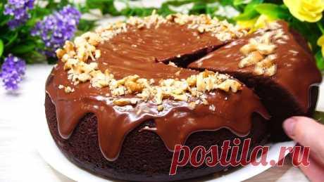 Идеальный шоколадный бисквит на кипятке | Готовим с Калниной Натальей | Яндекс Дзен