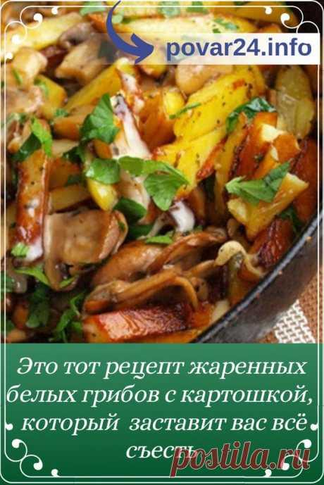 Как пожарить белые грибы с картошкой на сковороде быстро и правильно. Пошаговые простые рецепты с фото, помогающие приготовить очень вкусные жареные белые грибы с картошкой и луком.