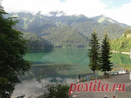 Красивейшее место на Земле, высоко в горах  жемчужина Абхазии- озеро Рицца