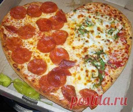 ТОП-5 рецептов пиццы в виде сердца к Дню влюбленных : видео