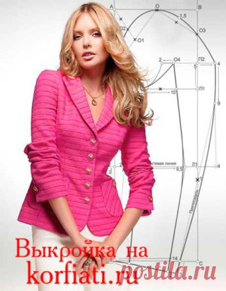 Выкройки-основы пиджаков женских - ШКОЛА ШИТЬЯ Анастасии Корфиати