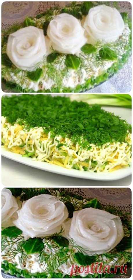 Очень вкусный салат Три белых розы с черносливом и курицей - Сайт для Вас Дорогие пользователи