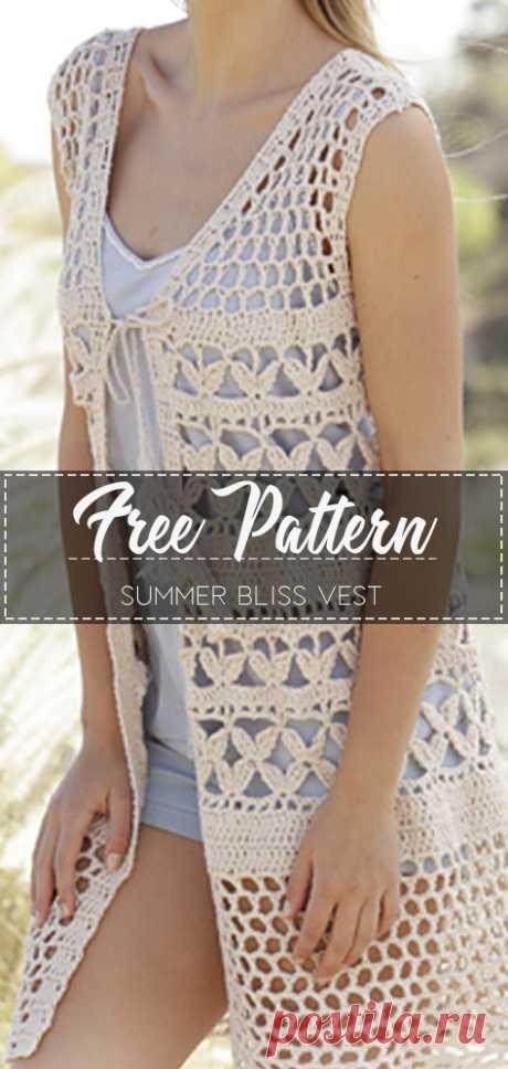 Summer Bliss Vest – Free Pattern – Free Crochet