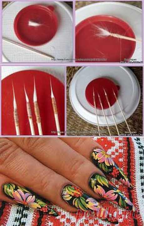 Изготовление кисточки из кошачей шерсти - Поделки своими руками - Домострой