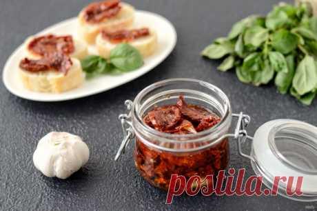 Вяленые томаты с чесноком - пошаговый рецепт с фото на Повар.ру