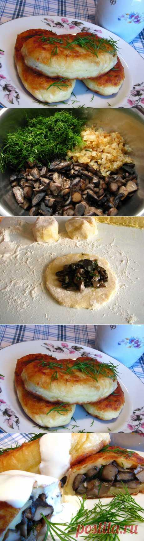 (+1) тема - Пирожки картофельные с грибами   ВКУСНО ПОЕДИМ!