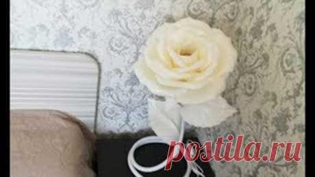 Мастер-класс Прикроватный светильник Роза из изолона