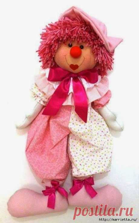 Pattern of the textile CLOWN