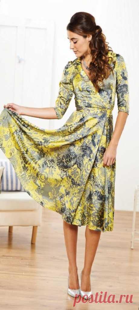 Скачать выкройку Платье с запахом в PDF бесплатно Выкройка Платье с запахом в ПДФ, скачайте пошаговую инструкцию бесплатно, сшить Платье с запахом своими руками.