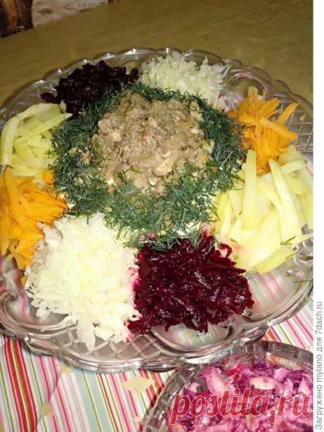 """Мясной салат """"Чафан"""" - отрада для глаз, источник витаминов. А вкусно как - пошаговый рецепт приготовления с фото"""
