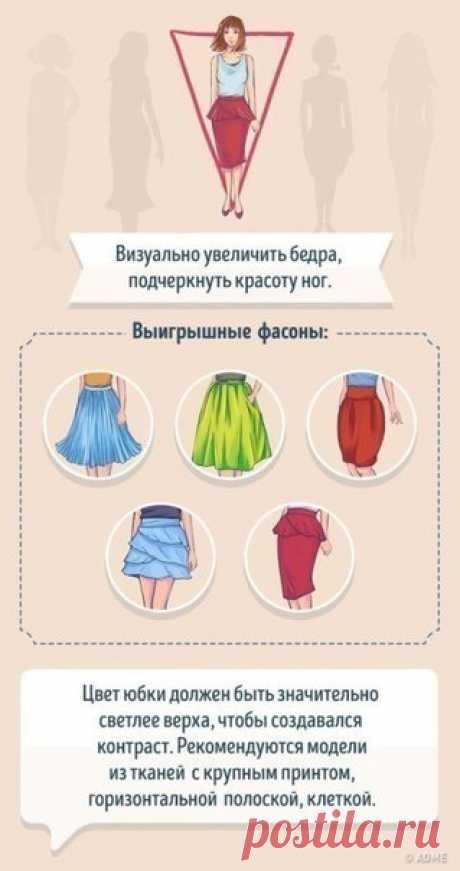 """Выбираем юбку по типу фигуры.  гр.ВК """"Сундук ТКАНЕЙ"""" (50 р./м) https://vk.com/public128618158"""