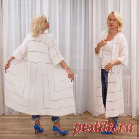 Кардиган вязаный Крылья Ангела, вязанный из Ангоры, женский – купить в интернет-магазине на Ярмарке Мастеров с доставкой - A4QEZRU | Москва