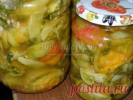 """Салат """"зеленые помидоры на зиму"""": популярные рецепты с фото"""