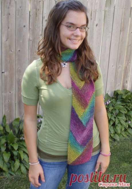 Шарф в технике частичного вязания - Вязание - Страна Мам